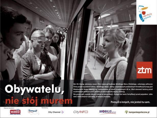 Plakat pierwszej odsłony kampanii społecznej ZTM ZTM