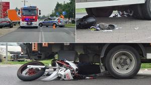 Wypadek we Włochach: ciężko ranny motocyklista