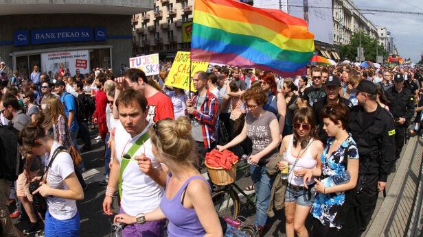 Parada Równosci w 2011 roku Maciej Wężyk /tvnwarszawa.pl