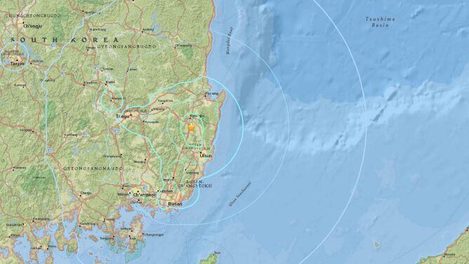 W Korei Południowej zatrzęsła się ziemia