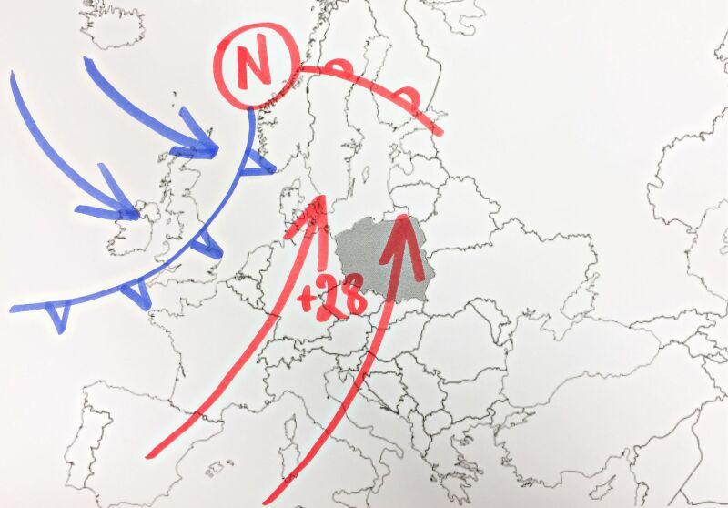 Układy baryczne nad Europą